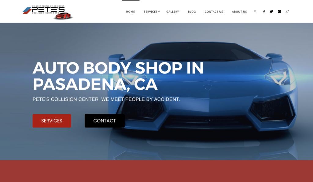 Auto Body Shop Digital Marketing Los Angeles