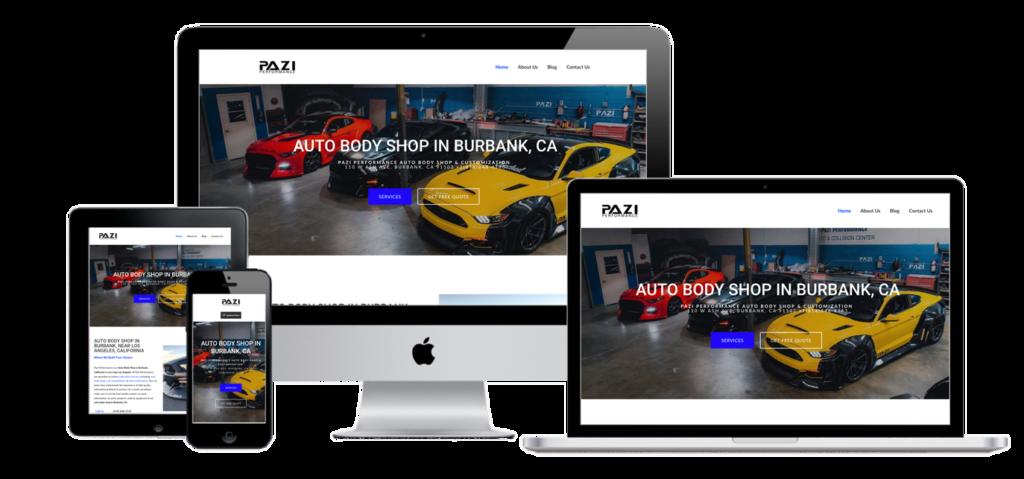 Auto Body Shop Web Design SEO